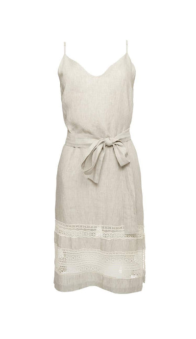 capri linen slip dress - gold hawk p3