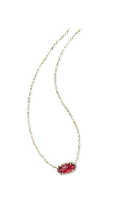 Clear Berry Elisa Necklace by Kendra Scott