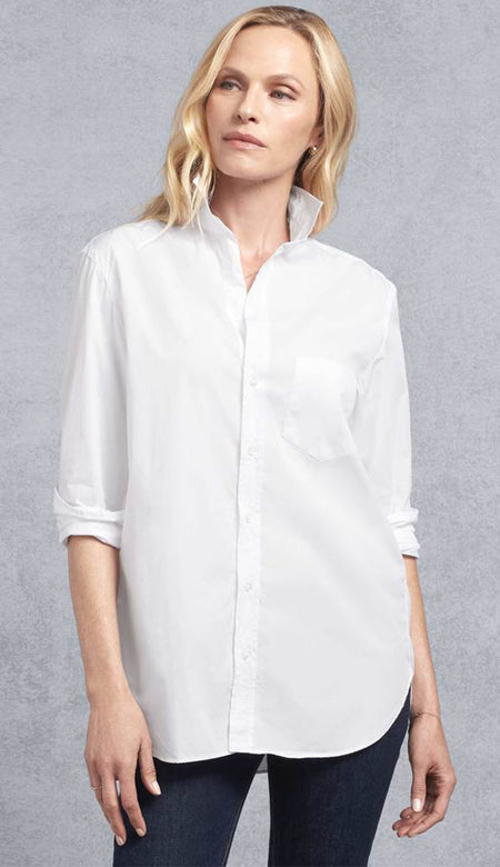 Frank Super Fine Poplin White Button Down Shirt