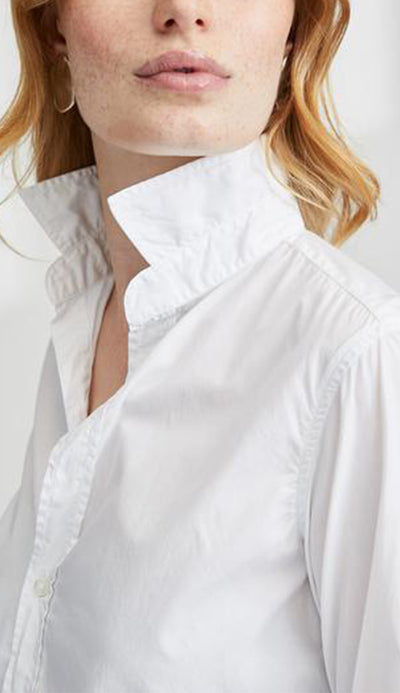 frank italian white poplin white button down by frank and eileen detail view