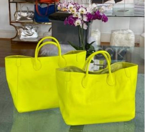 Beck Medium Classic Tote - Cyndi Neon Yellow