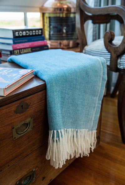 Adirondack Herringbone Woven Throw