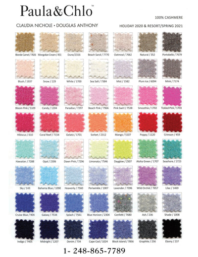 cashmere topper color chart spring 2021