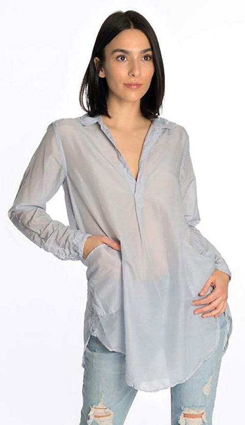 teton silk shirt in shadow blue by cp shades