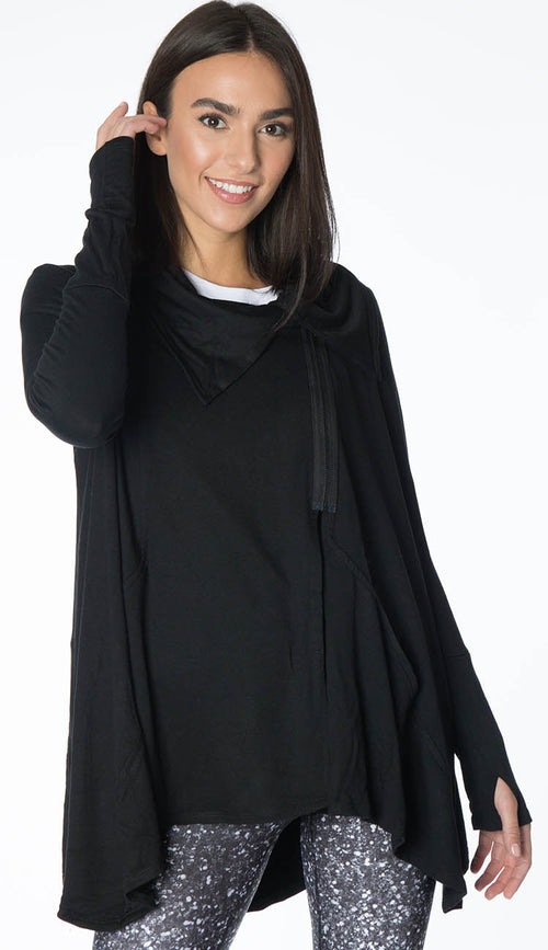 Black drape jacket by terez