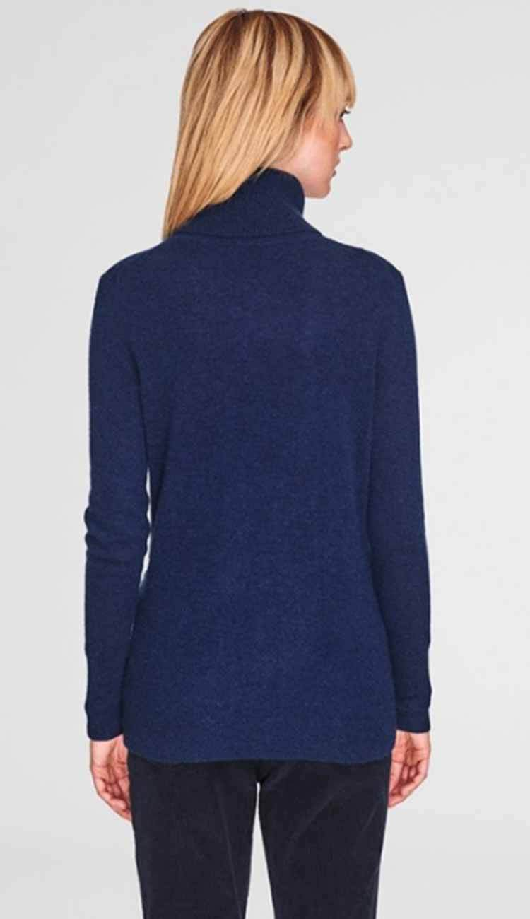 admiral blue turtleneck back view