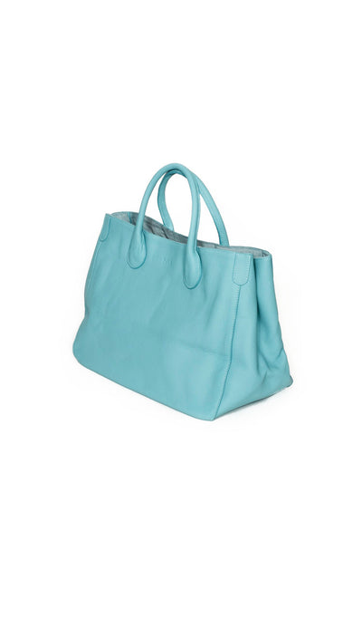 Beck Medium Classic Tote - Audrey Tiffany Blue