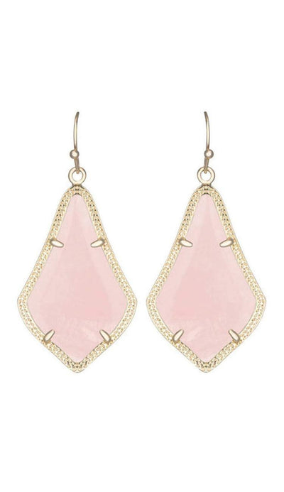 Alex Earrings - Rose Quartz BY Kendra Scott