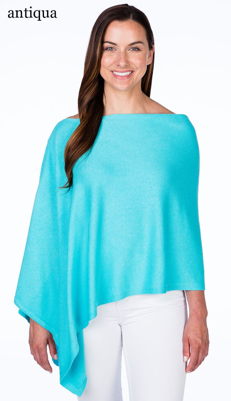 caroline grace cotton cashmere topper in antigua