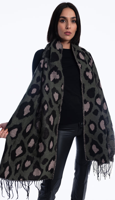 Faux Fur Topper Poncho - Pebble Brown