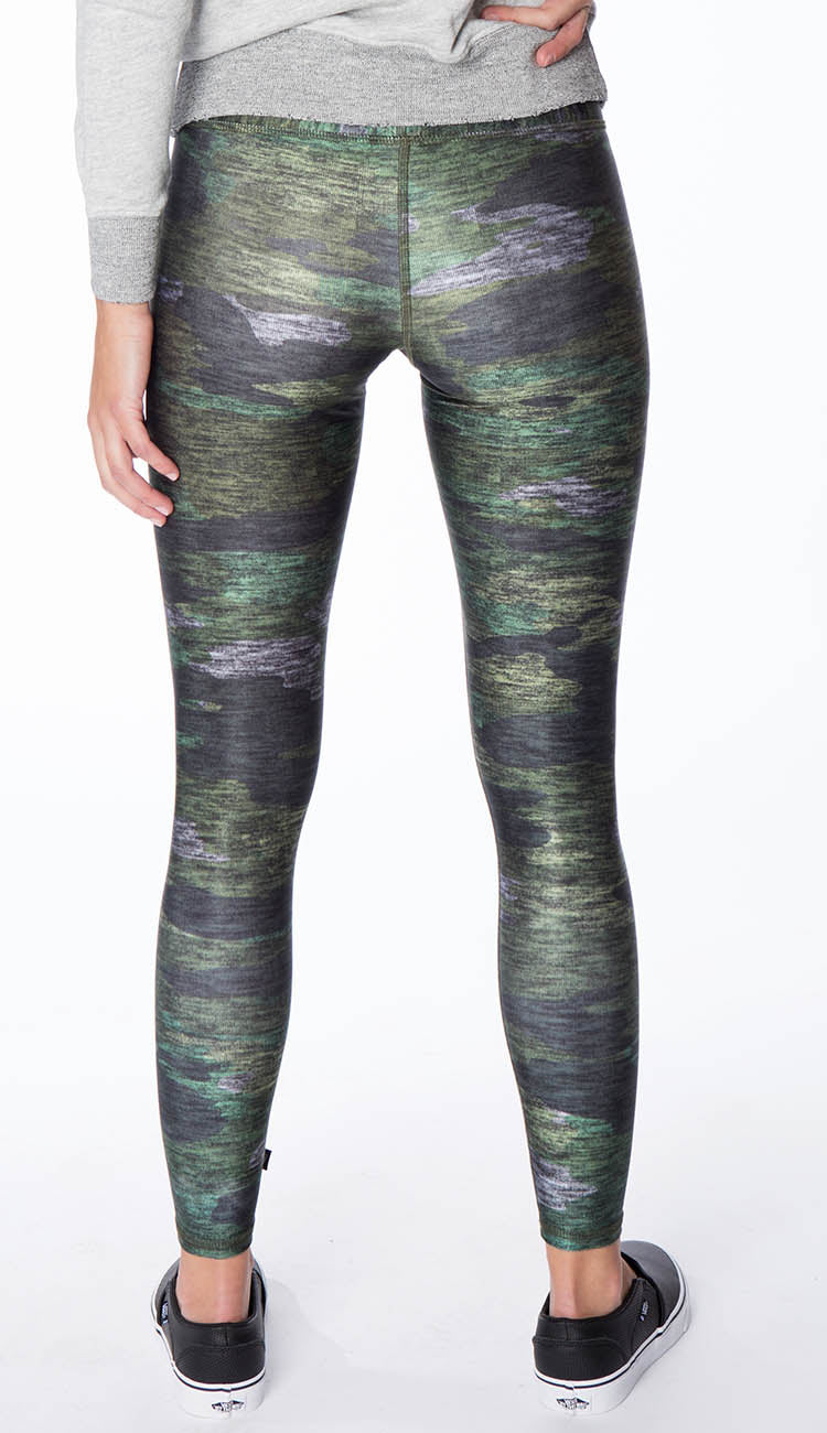 terez Green Heathered Camo Leggings back view