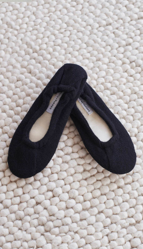 cashmere ballet slippers - white and warren - Paula & Chlo