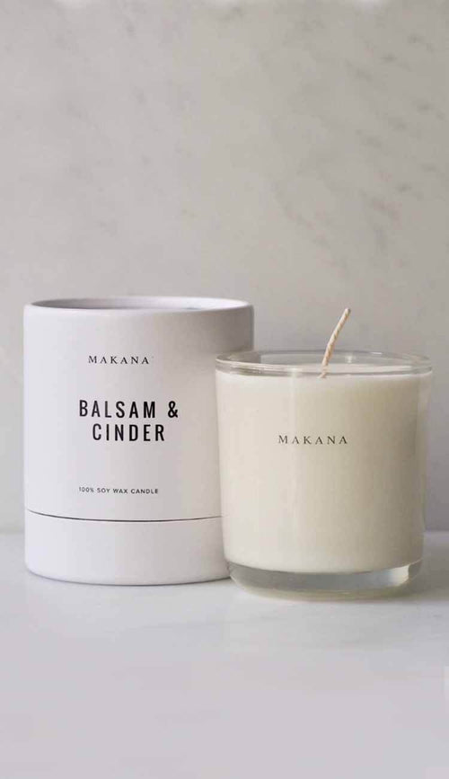 balsam & cinder candle by makana