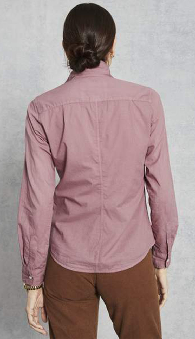 frank and eileen barry shirt in light poplin in rose back view