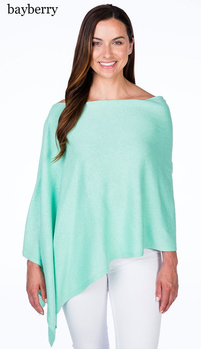 caroline grace cotton cashmere topper in bayberry