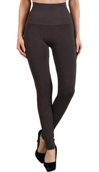 Tummy Tuck High Waist Leggings - Dark Grey