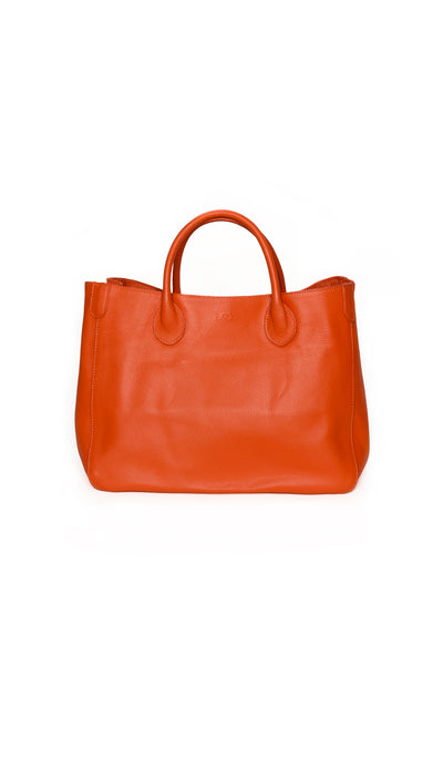 marie orange beck tote medium - Beck NYC