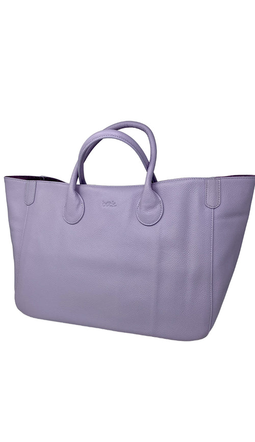 beck tote in dream pastel lavender - paula and chlo