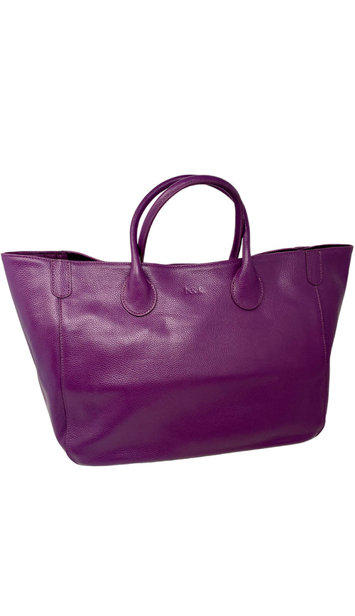 Beck Medium Classic Tote - Mere - Deep Purple
