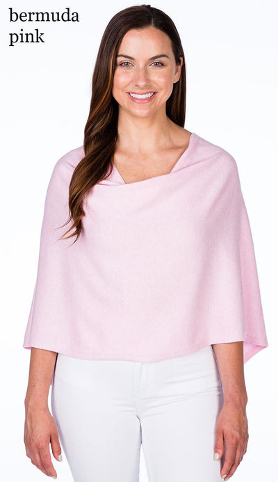 caroline grace cotton cashmere topper in bermuda pink