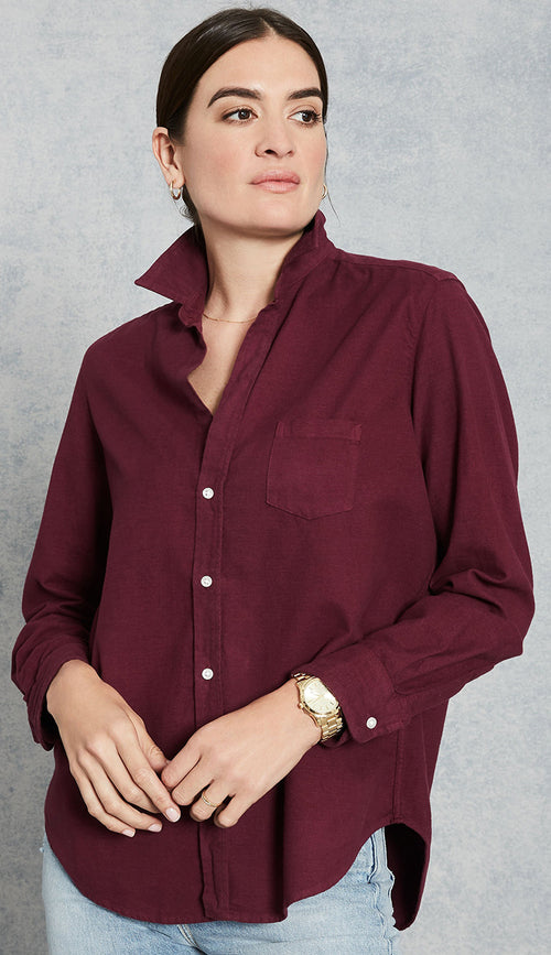 Frank & Eileen - Eileen Shirt in Berry Flannel