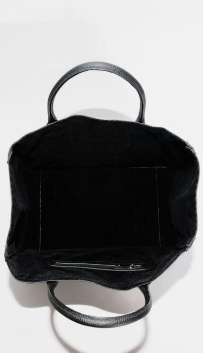 beck tote medium black interior view