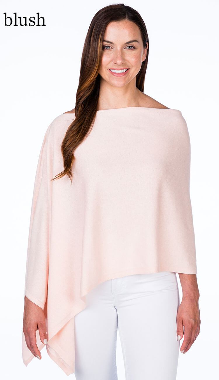 caroline grace cotton cashmere topper in blush