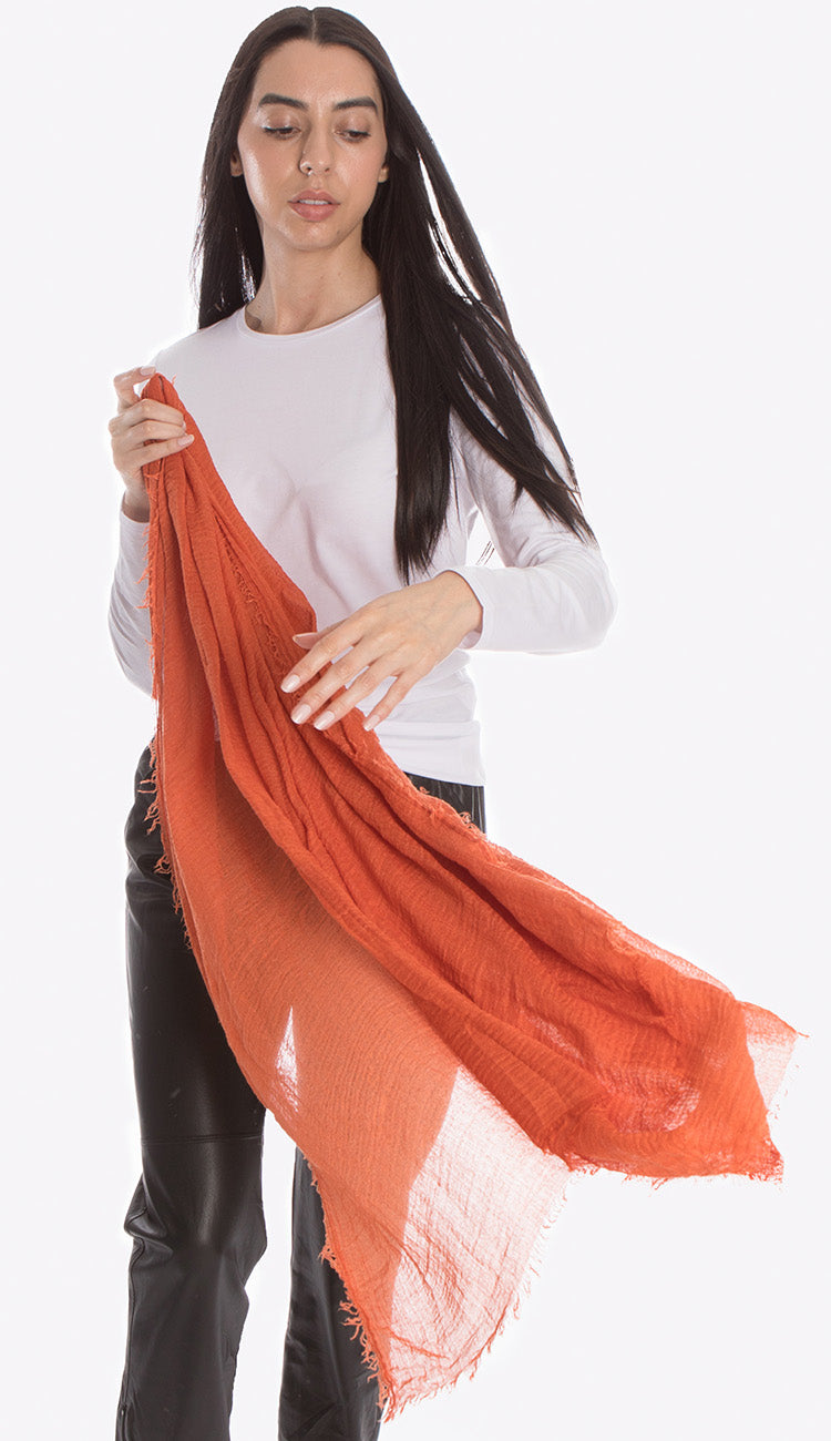 ruby zaar boho shawl scarf burnt orange
