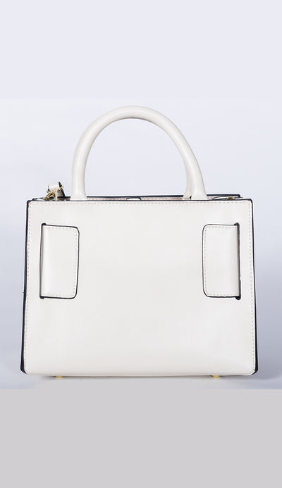carl handbag in white back view