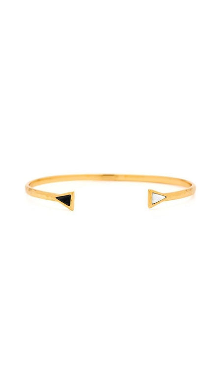 Kinsley Gold Bangle Bracelet Set In Escape