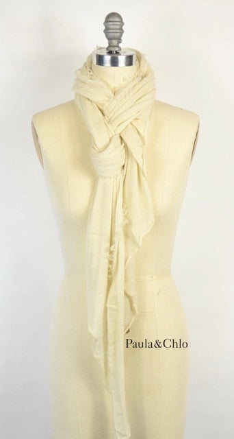 Cashmere Love Scarf - Milk