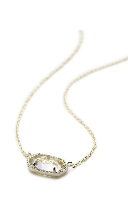Love Script Necklace-  Rhodium
