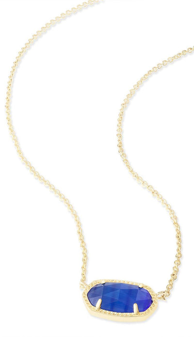 Cobalt Cat's Eye Elisa Necklace by Kendra Scott