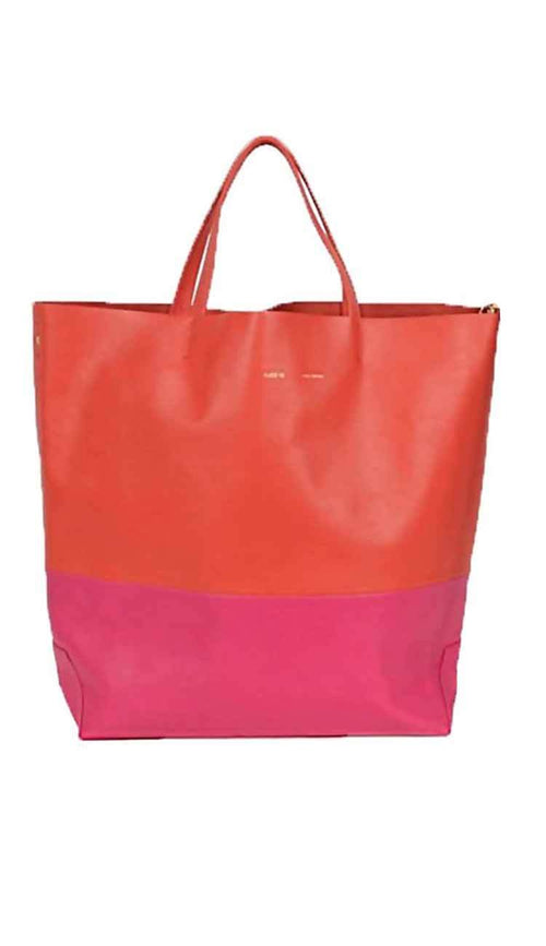 coral and fuchsia alice d tote front view