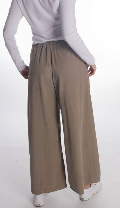 wendy wide leg micro cord pant by cp shades in elephant beige back view
