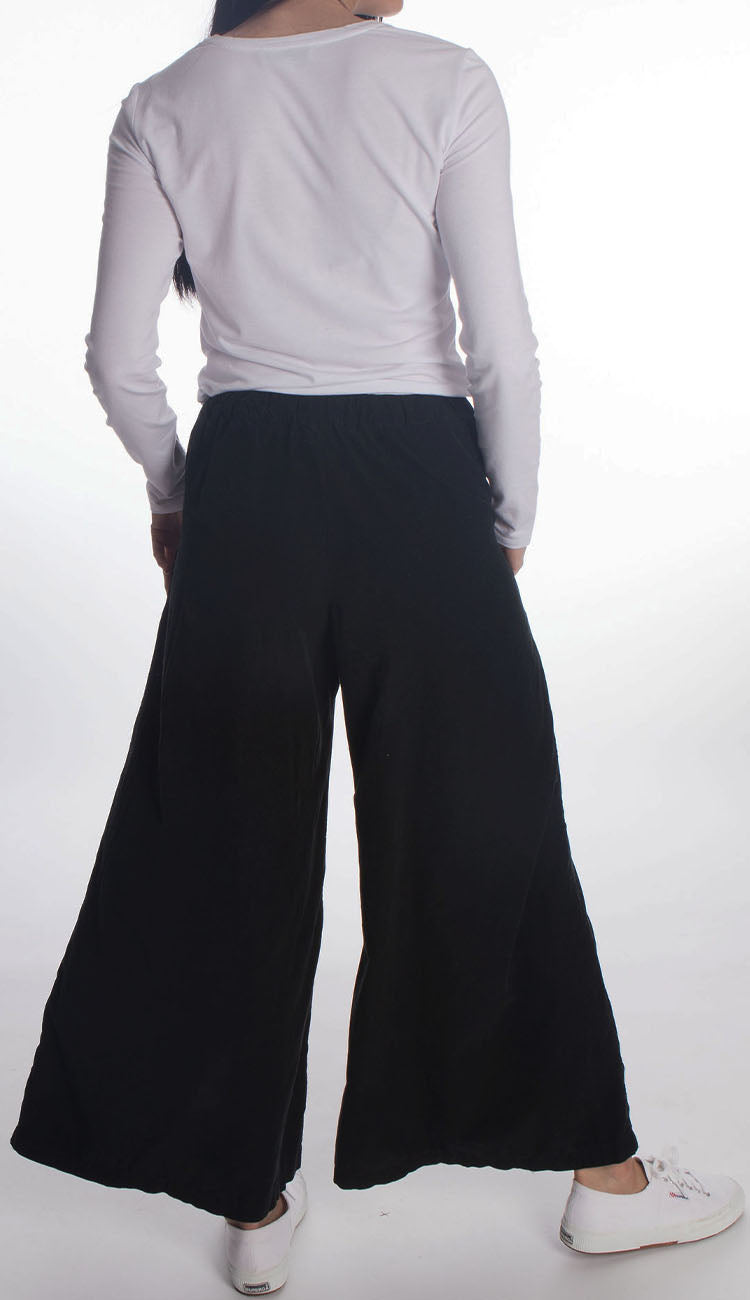 wedny micro cord pants in black by cp shades back view