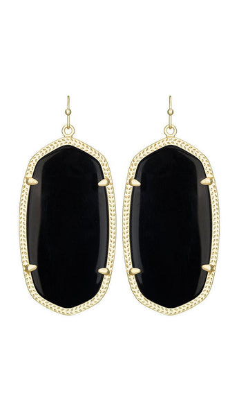 Danielle Earrings in Black by Kendra Scott