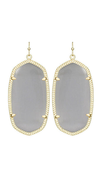 Danielle Earrings in Slate Cat's Eye by Kendra Scott