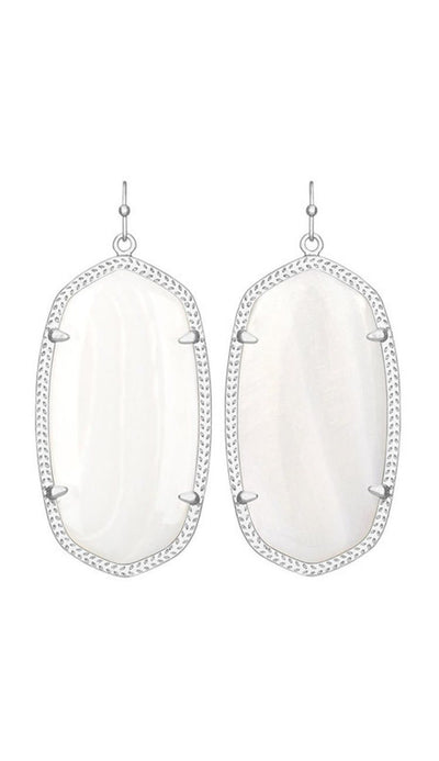 Danielle Earrings in White Pearl Eye by Kendra Scott