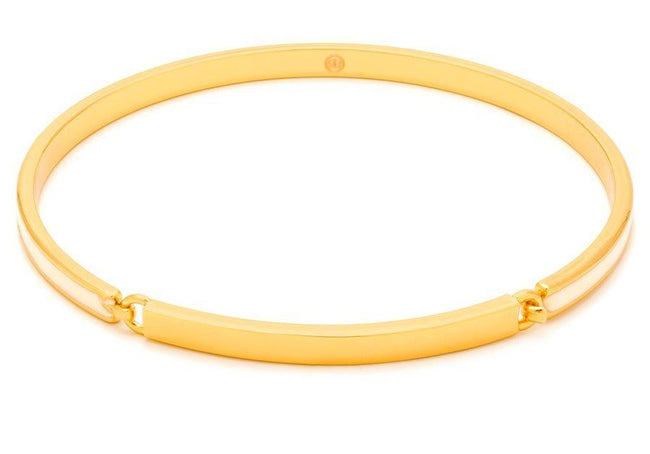 Gwen Hinge Bangle Bracelet - White