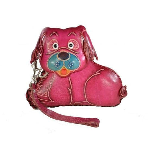 Dog Change Purse - Pink