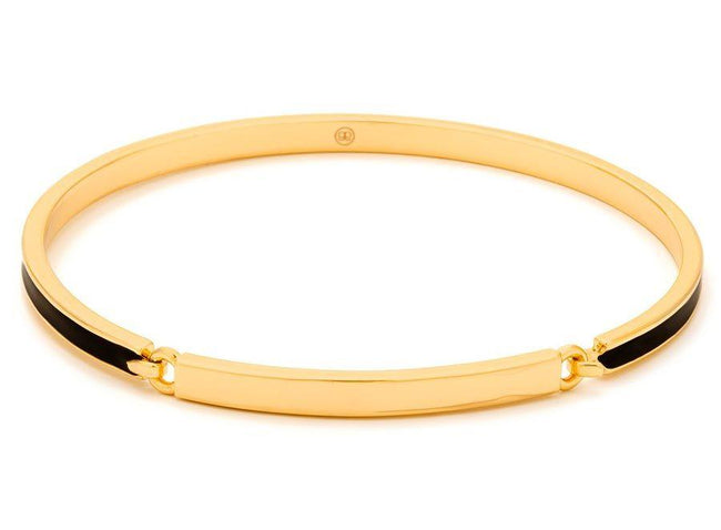 Gwen Hinge Bangle Bracelet - Black