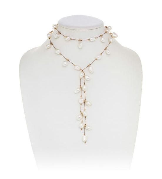 Freshwater Pearl Dangle Lariat