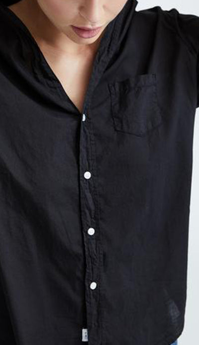 Frank & Eileen Eileen Black light Poplin Button Down Shirt detail view 2