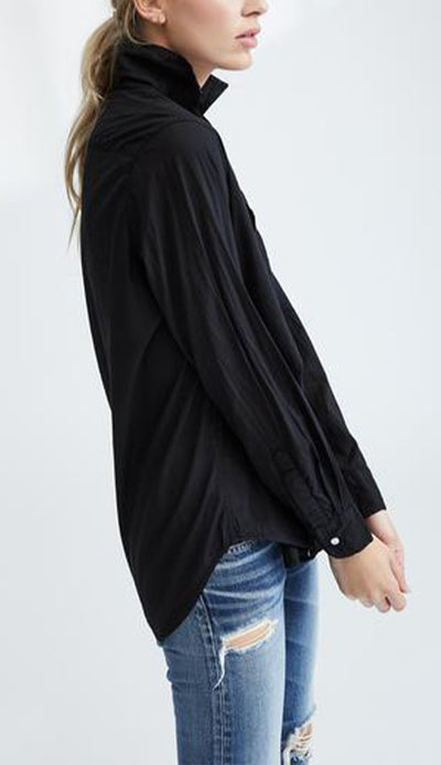 Frank & Eileen Eileen Black light Poplin Button Down Shirt side view