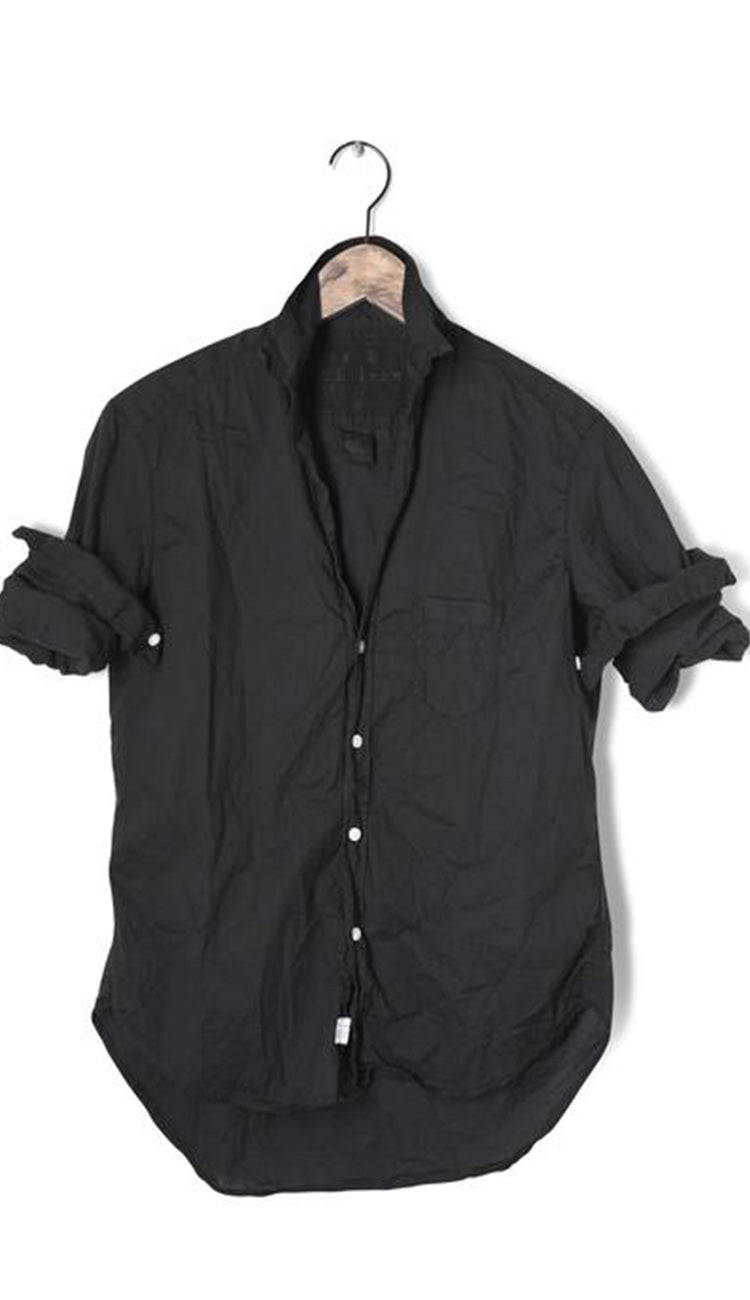 Frank & Eileen Eileen Black light Poplin Button Down Shirt hanger view