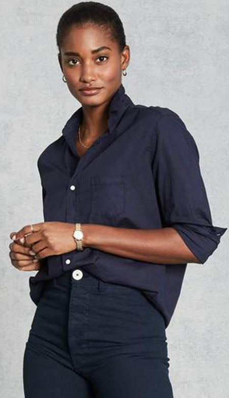 Mary Shirt Dress in Famous Blue Italian Linen