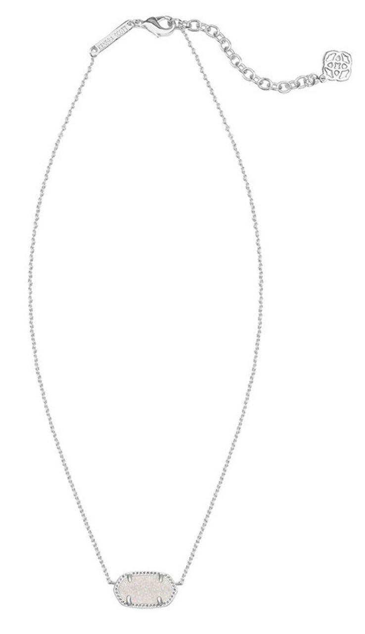 Iridescent Drusy Rhodium Elisa Necklace BY KENDRA SCOTT