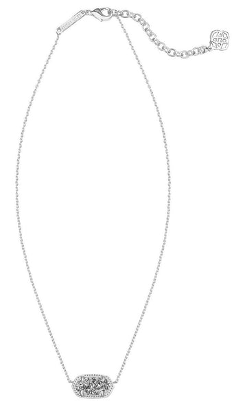 Platinum Drusy Rhodium Elisa Necklace by Kendra Scott
