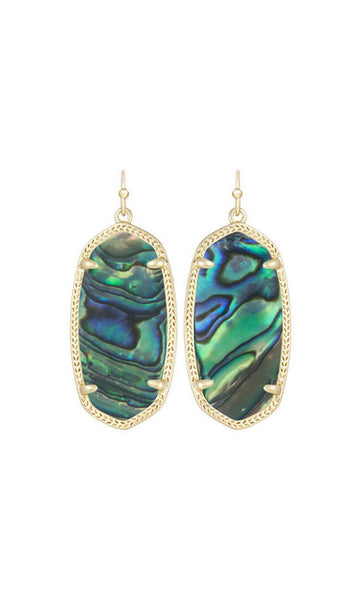 elle earrings in abalone by kendra scott